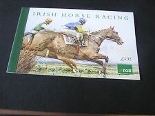 IRELAND, SCOTT # 1001-1005(14), S/S BOOKLET 1996 IRISH HORSE RACING CANCELED