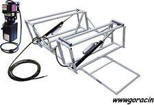 GoRacin.Com Portable Hydraulic Race Car Lift,with Steel Frame,110V,Tuner,Chevy