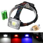 Rechargeable 3000lm 30W LED Powerful Front Light Headlamp Head Torch+2x Battery