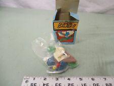 Super Smurf Figure box Vintage Toy Schleich Hammock nap sleep swing summer trees