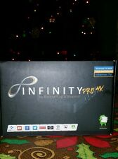 (2) Two Infinity 4k Pro TV Streaming Boxes: Movies, sports, TV