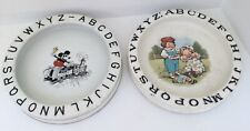 ANTIQUE 1930S ALPHABET POTTERY DISH MICKEY MOUSE WALTER E DISNEY BUFFALO KIDS