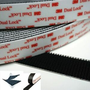 Dual Lock Sj 3550 3M Autocollant 50cmx25 MM GOPRO Telepass Tableau de Bord Noir