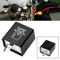 2-Pin LED Relay For Harley Davidson Motorcycle Bike Fix Turn Signal Flash Strobe