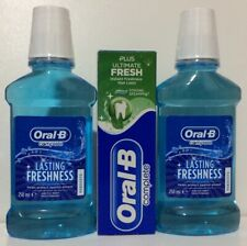 2x 250ml Mouthwash➕75ml Toothpaste Oral B Complete