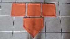 Prosport Throw Down 4 Plate Baseball/Softball Base Plate Set - Orange - Rubber