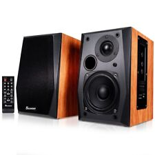 Home Remote Control Active Powered Bluetooth Bookshelf Speakers Stereo Studio US