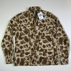 CARHARTT WIP Mission Shirt, Camo Terra, size M, new with tags