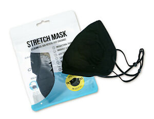 Stretch Mask Black Seamless Face Coverings - Triple Pack Black Face Mask
