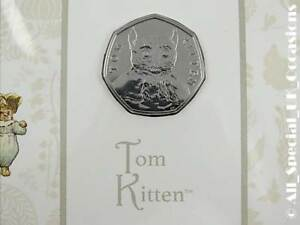 2017 Tom Kitten Beatrix Potter 50p Coin Royal Mint Pack Sealed Fifty Pence