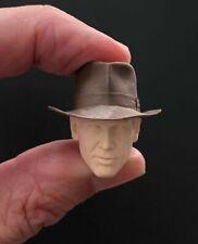 Custom INDIANA JONES Head Sculpt Hasbro BLACK SERIES 6 inch action figure RARE