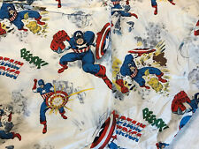 2 PC Pottery Barn Kids Twin Flat & Fitted Sheets Marvel Captain America