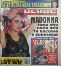 Globe Sept 18 1990 Madonna Sex to Superstar - Delta Burke - Soldier Mom Story