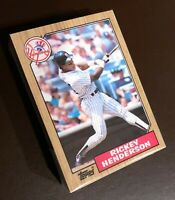 50) RICKEY HENDERSON New York Yankees 1987 Topps Baseball Card #735 LOT