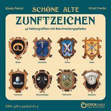 CD-ROM Schöne alte Zunftzeichen,40 Handwerkszeichen in jpg, png, ai, cdr, svg