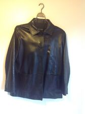Ellen Tracy genuine Black Soft leather jacket Good Condition Size XL? LOW PRICE