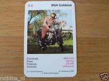 EASY RIDER 4D BSA GOLDSTAR KWARTET KAART, QUARTETT CARD,SPIELKARTE