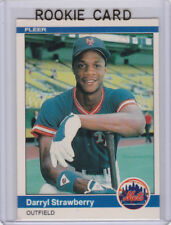 Darryl Strawberry 1984 Fleer VINTAGE ROOKIE CARD New York Mets Baseball MLB RC!!