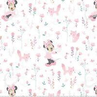 Coupon de Tissu Disney - Minnie Mouse Bébé Fille Rose 45x55cm