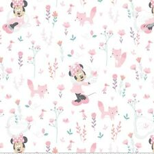 Coupon de Tissu Disney - Minnie Mouse Bébé Fille Rose 45x55cm