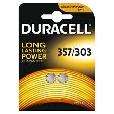2 x DURACELL 357/303 1.5V Batteria Orologio Ossido di Argento D357H D357/303 V303 SR44
