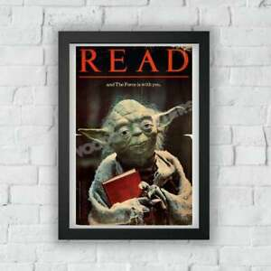 """Yoda """"Read"""" Poster, Movie Poster, Vintage Poster, Star Wars Fan Gift, Home Decor"""
