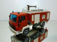 SIKU MERCEDES BENZ TRUCK + WATER TRUCK FIRE BRIGADE RED 1:55? - GOOD CONDITION