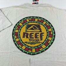 Vintage REEF Brazil T-Shirt Size L Large RARE 90s SURF SKATE Single Stitch WORN
