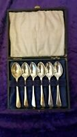 Vintage 1930 Boxed set of Coffee spoons
