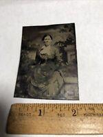 Antique Vintage Civil War Era Tintype Photo Photograph Victorian Women