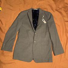 Boys 18R IZOD 2 Button Blazer Gray Beautiful Blue Lining