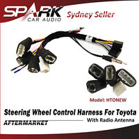 Steering Wheel Control SWC Harness ISO Lead Wire Loom Radio Antenna For Toyota