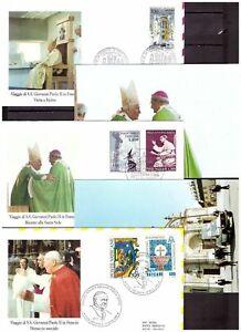s20182) VATICANO Lotto FDC + Cartoline Viaggi Papa  x 50 (vedi scan x10)