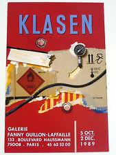 KLASEN Peter Affiche originale 1989 Paris FIGURATION NARRATIVE Grohmann Richter