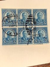 U.S President 1922 Theodore Roosevelt 1922 Block Of 6 Special Cancel #557 NH