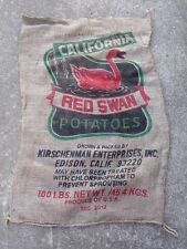 "1 Qty - 24"" x 40"" Clean Used Burlap Potato Sack/Bag Rat Rod, Sack Race, Feed"