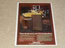 Tannoy Cheviot Speaker Ad, 1979, Beautiful, Article, 1 page