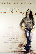 Carole King Natural Woman The Very Best Of Original Release UK Promo Poster