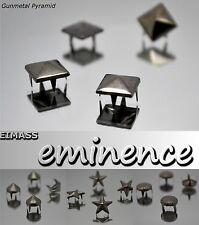 Eimass ® Gunmetal Garra Tachas, remaches, Pyramid, Spike Cono, Star, cúpula redonda, Artesanales, Shoe