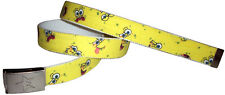 SpongeBob Squarepants Children's Belt & Buckle Kids Canvas Yellow Web Clothing