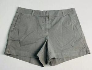 """New J. Crew Women's 4 Gray Cotton Chino 4"""" Inseam Shorts G2331"""