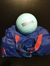 Wilson Soft Play Volleyball blue duffle Gym bag sports travel Wilson LOT
