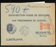 RUSSIA - 1916 REGISTERED COVER PETROGRAD TO NEUCHATEL WITH CONTENTS - CENSORED