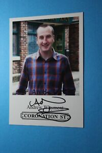 Andrew Whyment (Coronation Street) Signed Cast Card