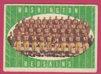 1961 Topps Football # 131 Washington Redskins Team Card -- Box 708-177