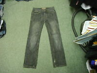 "Denim Co Straight Jeans Waist 30"" Leg 32"" Black Faded Mens Jeans"