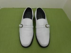 Vintage 60's/70's Stuart McGuire White Leather Loafers Shoes Size 10.5 D