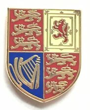 Queen's Royal Cypher Standard Flag Military Enamel Lapel Pin Badge