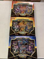 Pokemon Hidden Fates GX collection box- Gyarados, Charizard, Raichu LOT of 3