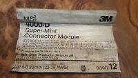 3M MS² Super-Mini Connector Modules, Transparent Dry, 4000-D 3 bags